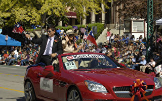 马钟麟处长出席犹他州拓荒节大游行