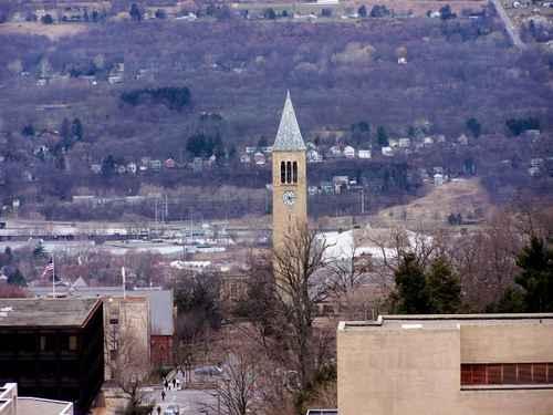 康乃爾大學被公認為是常春藤八所大學中校園最美、占地最廣的學校。(Fotolia)