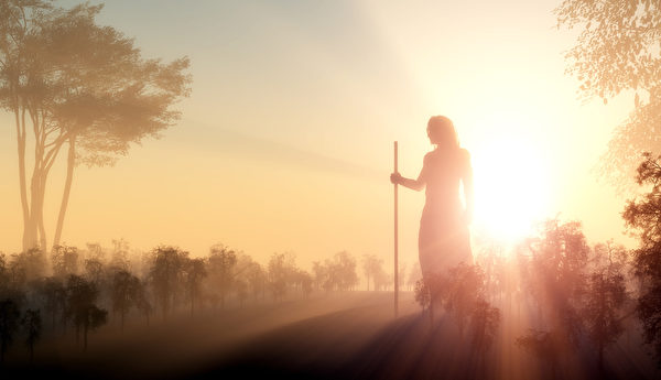 耶稣剪影(fotolia)