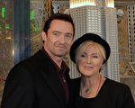 澳洲著名影星休.杰克曼和他的太太。(STAN HONDA/AFP/Getty Images)