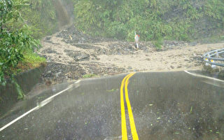 台风吹袭  屏东雾台乡台24线交通中断