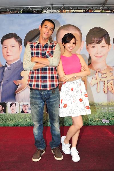 黃騰浩與何紫妍出席活動。(台視提供)