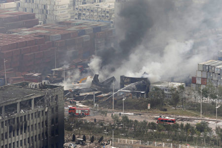 天津爆炸一週,官方數字增至114死、70失蹤。(AFP)
