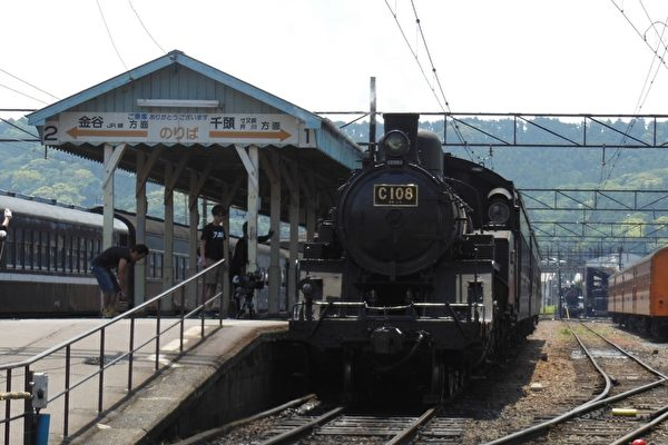 大井川鐵道蒸汽火車。(嘉義林管處提供)