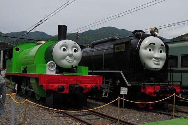大井川鐵道現在以湯瑪士小火車、蒸汽火車及齒軌式(ABT)登山火車聞名。(嘉義林管處提供)