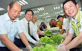 圖片新聞:桃園營養午餐 每周3天供應有機蔬菜