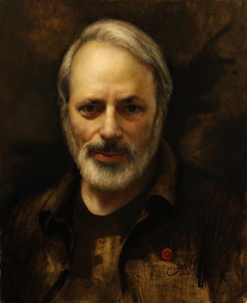 """弗雷德里克‧罗斯肖像,ARC认证""""在世大师""""之一恺撒‧桑托斯(Cesar Santos)作,弗雷德里克‧罗斯收藏。(艺术复兴中心提供)"""