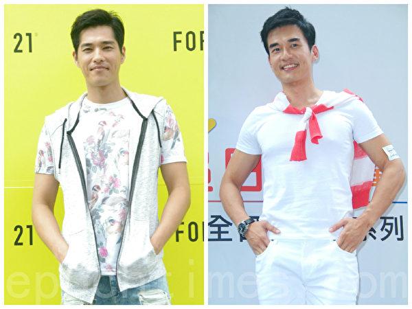 台湾戏剧小生蓝正龙(左)与杨一展。(黄宗茂/大纪元合成)