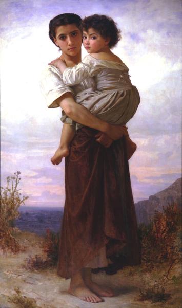 威廉‧布格羅(William Bouguereau,1825—1905),《年輕的吉普賽女子》(JEUNES Bohemiennes),私人收藏。(藝術復興中心提供)
