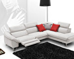 L型多段式调整沙发,可按照个人需求调整多种角度。(Mscape提供)