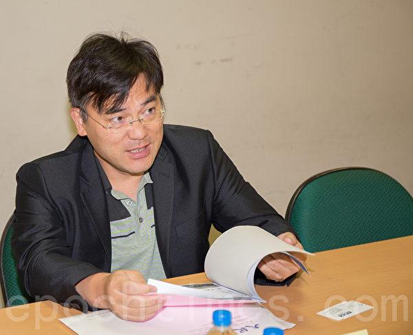 远宏公司黄总经理27日表示,使命感才是企业永续经营之道。(郑顺利/大纪元)