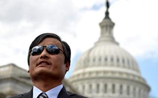 知名盲人維權律師陳光誠表示,中國大陸法治倒退,但公民覺醒的趨勢無法阻擋。(AFP)