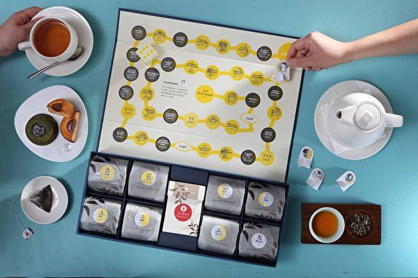 在桌上一邊吃一邊玩的月餅。(台北亞都麗緻大飯店提供)