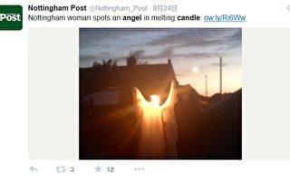不可思议!浪漫烛光铸成纯洁天使