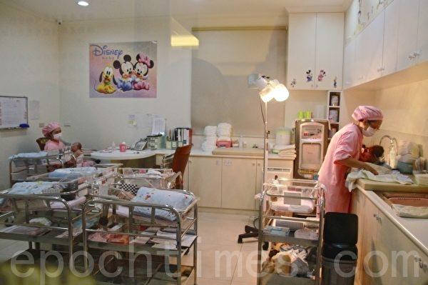 惠扬产后护理之家的婴儿室。(许享富 /大纪元)