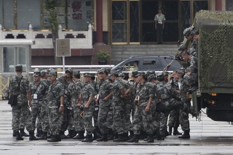 中共建政70周年强化安保 北京水果刀也下架