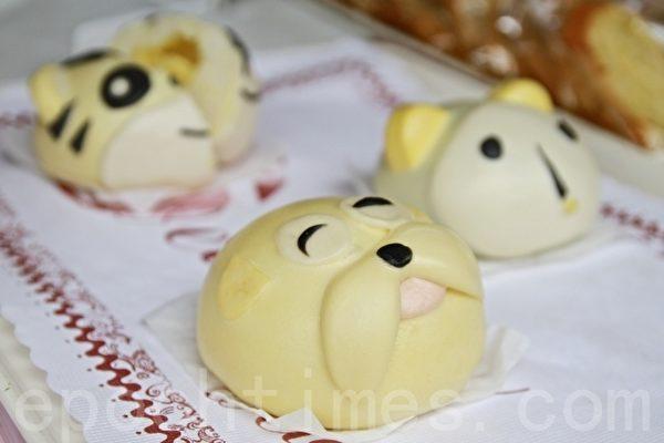 台灣苗栗糕餅業製作的創意糕點。(許享富 /大紀元)