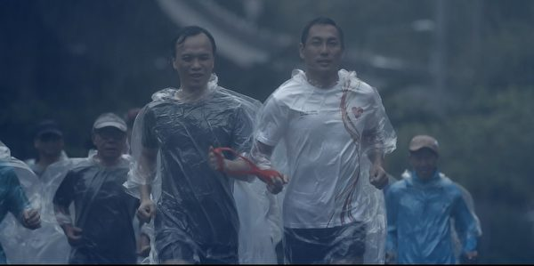 Eason《人生马拉松》MV邀请跑手参与拍摄。(环球国际唱片提供)