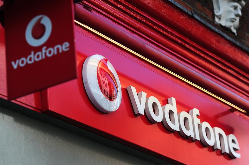 歐洲手機巨頭沃達豐(Vodafone)。(CARL COURT/AFP/GettyImages)