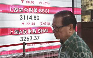 中国股市周一遭重挫 走资加剧成噩梦
