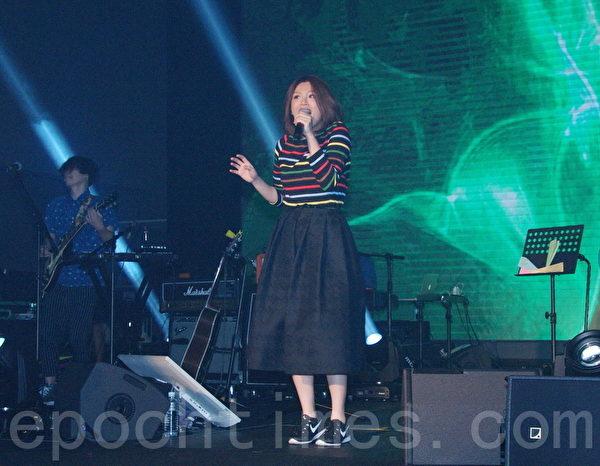 """""""Desire Party流行音乐派对""""流行音乐派对于2015年9月19日在台北举行。图为魏如萱。(黄宗茂/大纪元)"""
