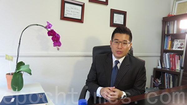 美國劉氏兒童發展中心洛杉磯總部主任劉駿。(袁玫/大紀元)