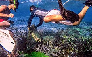 打撈廢棄漁網  民眾自發澎湖潛水淨海