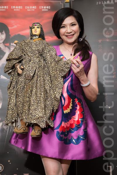 艺人小百合9月24日在台北出席演唱会记者会。(陈柏州/大纪元)