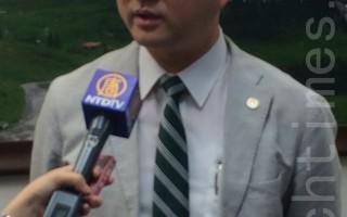北市议员阮昭雄表示,诉江需要更多人加入与支持,他很有信心未来会变成一股旋风。(徐翠玲 /大纪元)