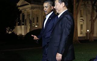组图:奥巴马和习近平在白宫边走边聊