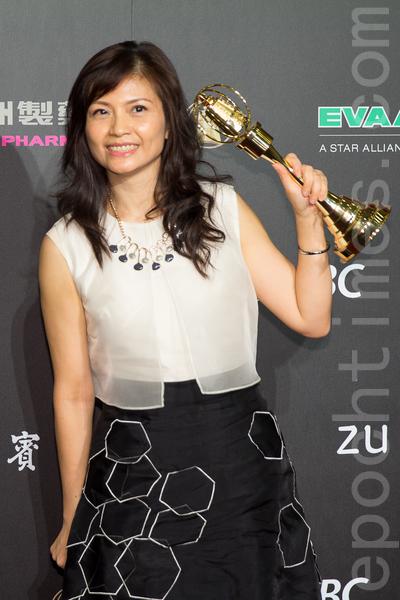 """非戏剧类节目导播奖由""""音乐万万岁3""""的黄慧娟获得。(许基东/大纪元)"""