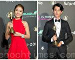 林心如(左)製作的《16個夏天》拿下戲劇節目獎;吳慷仁(右)主演的《麻醉風暴》則抱走迷你劇集獎等多個獎,皆是大贏家。(許基東/大紀元合成)