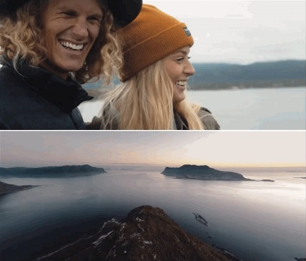 萨缪尔与希尔德冈结婚周年之际拍摄了一段旅行视频,让观者饱览挪威美景。(视频截图)