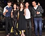 《16個夏天》「五人幫」成員(左起)謝佳見、林心如、許瑋甯、鄒承恩、楊一展。(聯意製作提供)