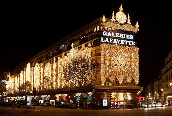法國巴黎百年老字號商場拉菲耶商場(Galeries Lafayette)。(維基百科)