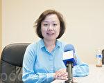 圖:舊金山小業主協會的陳女士(Angela Chen)說,「租客保護2.0」是權宜之法,不會解決根本問題。(周鳳臨/大紀元)