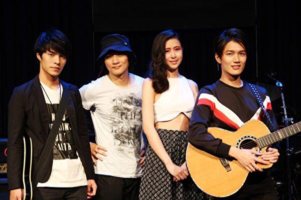 壹号创作基地杨景涵(左起)、徐向立、思卫、陈杰瑞从陌生人变成好战友。(无限延伸提供)