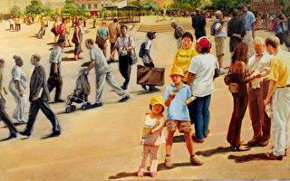 《交叉路口》,Kathleen Gillis,油彩.畫布,148x81cm ,2006