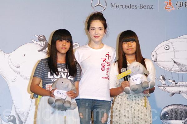 許瑋甯於2015年10月5日在台北出席賓士公益活動。(黃宗茂/大紀元)