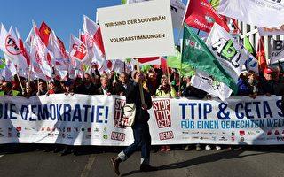 德國20萬人集會 抗議歐美自貿協定