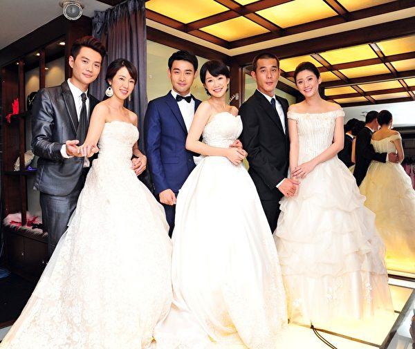 方大韋與黃瑄、潘柏希與李佳豫、黃騰浩與林逸欣日前拍攝婚紗照。(台視提供)