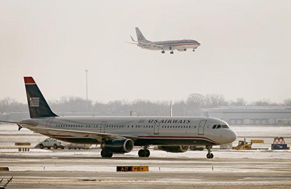 成立于1979年的US Airways,在2013年与美国航空完成合并。(Scott Olson/Getty Images)