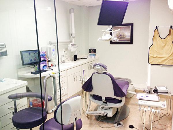 每一个牙科诊室独立分隔,客人在这里看牙安静、舒适,享受特别不一样的照顾。(图:华盛顿DC诊所 UD提供)