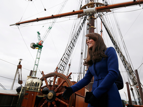 「發現號」是英國最後一艘建造的傳統的木製三桅船,船長52米,排水量1,570,最快時速8節(15公里)。 (Danny Lawson/Getty Images)