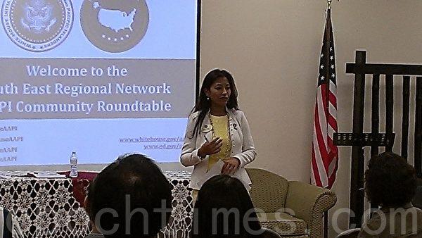 总统的亚太裔顾问委员Sanjita Pradhan。(佛州亚裔总会会长邓咏娴提供)