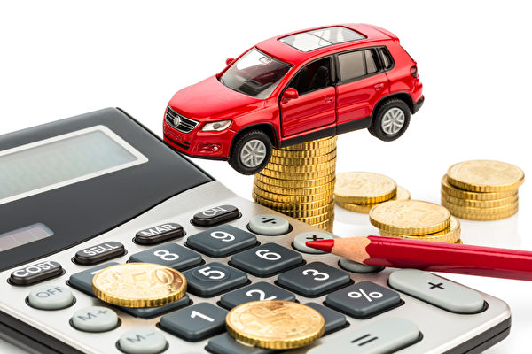 car and calculator. rising costs of car purchase, lease, workshop, refueling and insurance