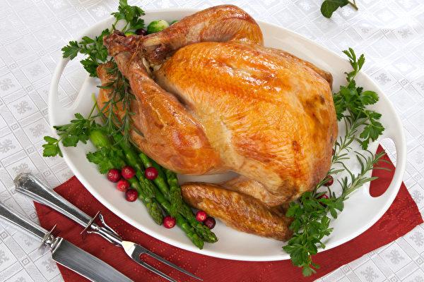 今年的感恩節顧客仍可以毫無困難的買到比去年更便宜的火雞。圖為烤火雞。(Fotolia)