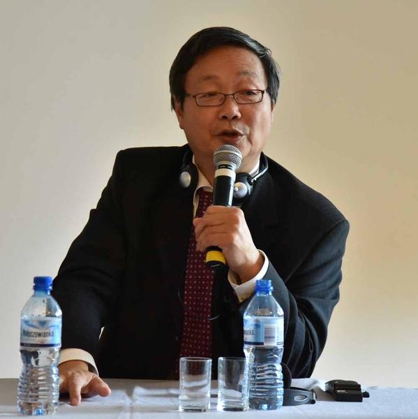 来自德国的人权组织国际人权协会(International Society for Human Rights)理事兼中国问题专家吴文欣。(大纪元)
