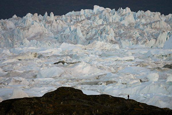 格陵蘭島伊盧利薩特峽灣雅各港冰川。(Uriel Sinai/Getty Images)