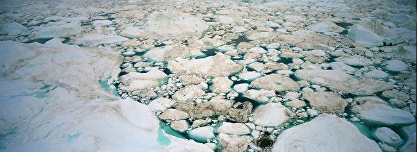 格陵蘭島伊盧利薩特峽灣浮冰。(Uriel Sinai/Getty Images)
